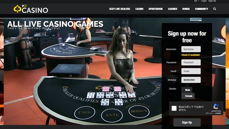 ポーンハブカジノ(Pornhub Casino)登録方法